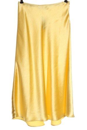 Zara Maxirock blassgelb Elegant