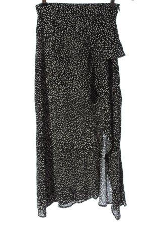 Zara Maxirock schwarz-wollweiß abstraktes Muster Casual-Look