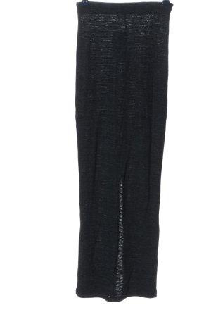 Zara Maxirock blau-schwarz meliert Casual-Look