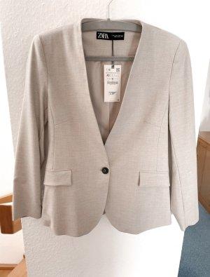 Zara melierter taillierter Blazer | Gr. M | beige