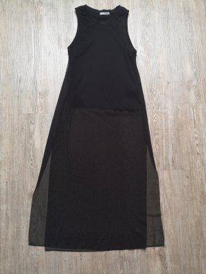 Zara Mesh Top Shirt Kleid S schwarz