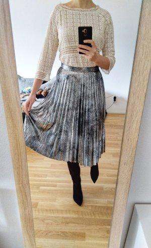 Zara Pleated Skirt black-silver-colored