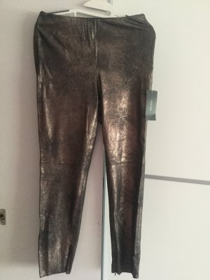 ZARA Metallic-Leggings aus Wildlederimitat Gr.M