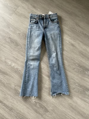 Zara 7/8 Length Jeans blue