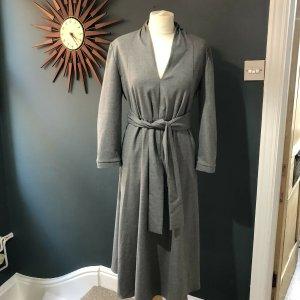 ZARA midi lang Stein klassisch grau Kleid 4437/274 Büro Office M 36 38 elegant