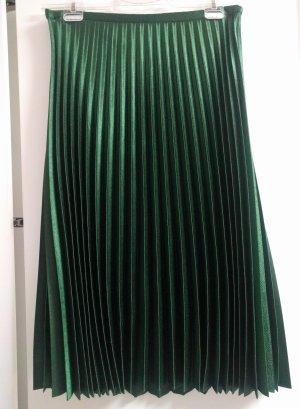zara midi plissierter rock XL, smaragdgrün