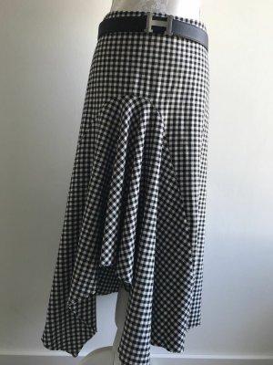 Zara Jupe asymétrique blanc-noir