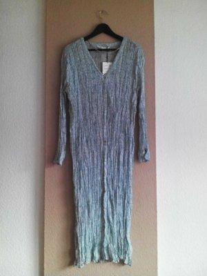Zara Midi Tunikakleid aus 100% Viskose, geknitterte Optik, Grösse M neu