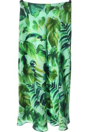 Zara Midirock türkis-grün Blumenmuster Casual-Look