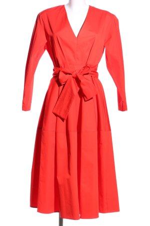 Zara Vestido a media pierna rojo look casual