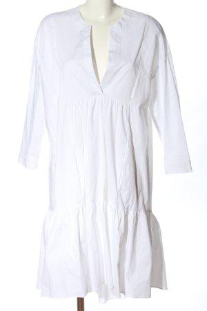 Zara Blusenkleid weiß Casual-Look