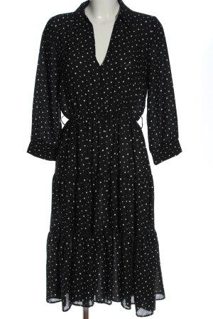 Zara Midikleid schwarz-weiß Punktemuster Elegant