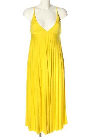 Zara Midikleid blassgelb extravaganter Stil