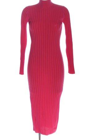 Zara Midikleid pink-hellorange Casual-Look