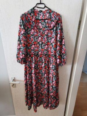 Zara Midikleid Gr. S Bunt Blumen Muster NEU