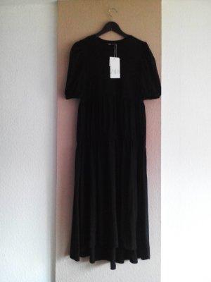 Zara Midikleid in schwarz aus 100% Baumwolle, Grösse M, neu