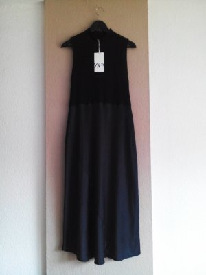Zara Midikleid in schwarz, Grösse M, neu