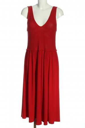Zara Midikleid rot Casual-Look
