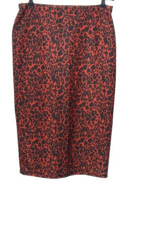 Zara Midirock rot-schwarz Allover-Druck extravaganter Stil