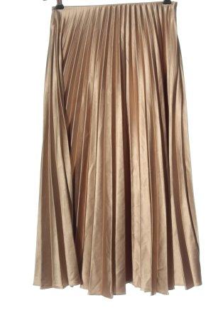 Zara Jupe plissée bronze élégant