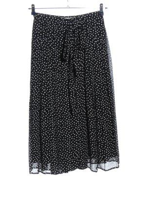 Zara Midirock schwarz-weiß Punktemuster Casual-Look