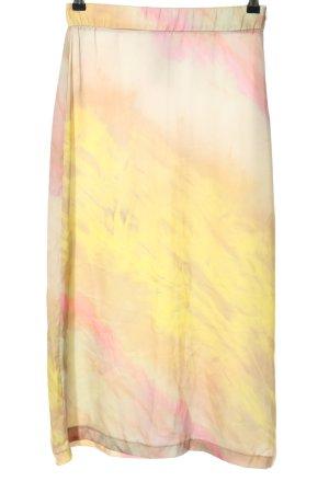 Zara Midirock blassgelb-pink Farbverlauf Casual-Look
