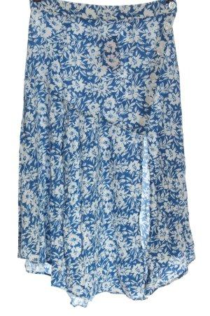 Zara Midirock blau-weiß Allover-Druck Casual-Look