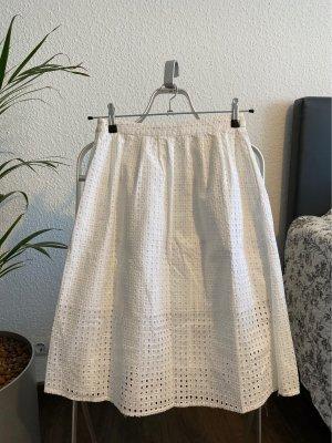 Zara Basic Spódnica midi biały