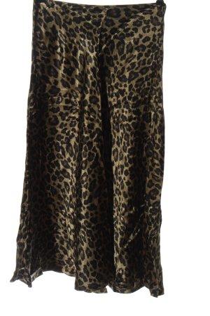 Zara High Waist Rock khaki-schwarz Allover-Druck Elegant