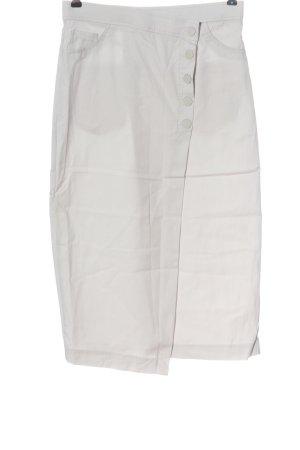 Zara Jupe mi-longue blanc style décontracté