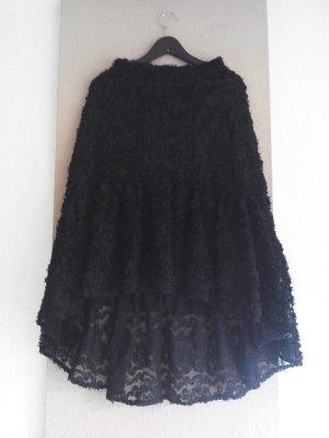 Zara Midirock mit Blumenbesatzt in schwarz, Grösse S, neu