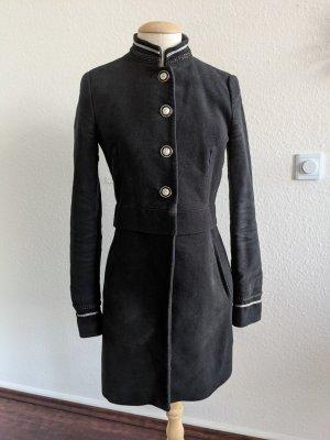 Zara Military Mantel Sergeant Pepper schwarz