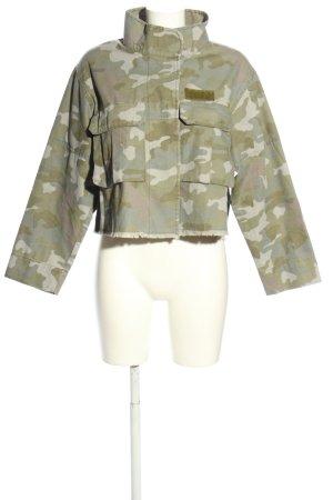 Zara Militaryjacke Camouflagemuster Casual-Look