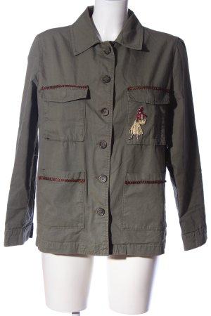 Zara Militaryjacke braun Motivdruck Casual-Look