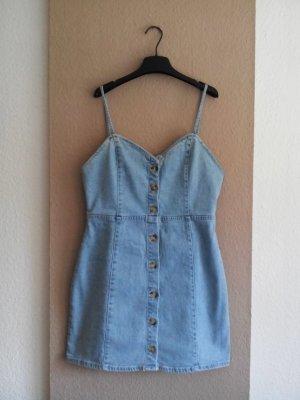 Zara Mini Jeans Trägerkleid aus 100% Baumwolle, Größe L, neu