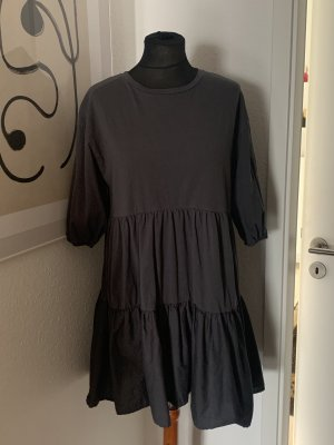 Zara Mini Kleid Dress grau Volants 36 M