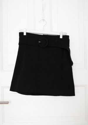 Zara Mini Rock Shorts schwarz Vintage Look mit Gürtel 60s Gr. M 38