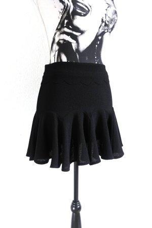 Zara Spódnica z falbanami czarny