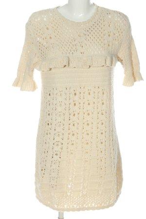 Zara Minikleid creme Casual-Look