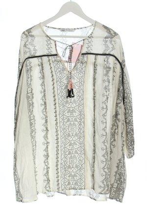 Zara Minikleid wollweiß-schwarz Allover-Druck Casual-Look