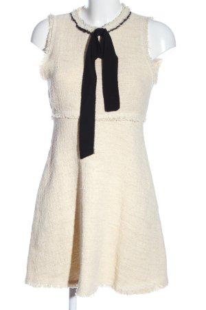 Zara Minikleid wollweiß-schwarz Casual-Look
