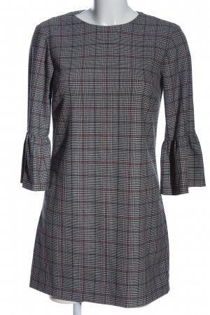 Zara Minikleid schwarz-weiß Karomuster Casual-Look
