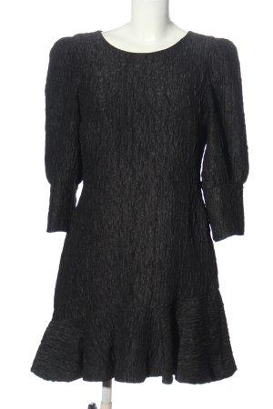Zara Minikleid hellgrau Allover-Druck Elegant