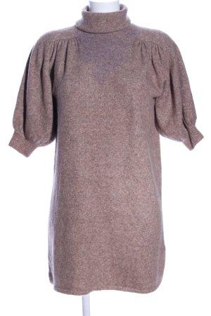 Zara Minikleid braun meliert Casual-Look