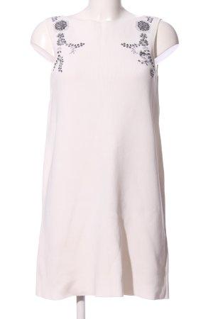Zara Minikleid Schriftzug gestickt Business-Look