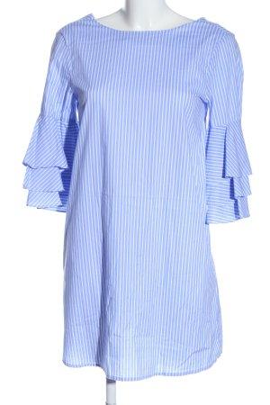 Zara Minikleid blau-weiß Streifenmuster Elegant