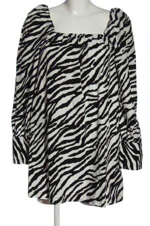 Zara Minikleid schwarz-weiß abstraktes Muster Casual-Look