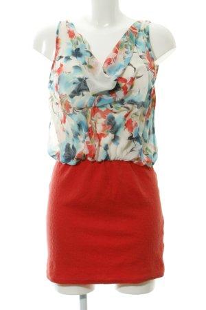 Zara Minikleid 2in1 Rock und Top Rückenfrei tiefer Ausschnitt Blumenmuster