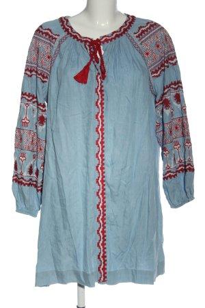 Zara Minikleid blau-rot Elegant