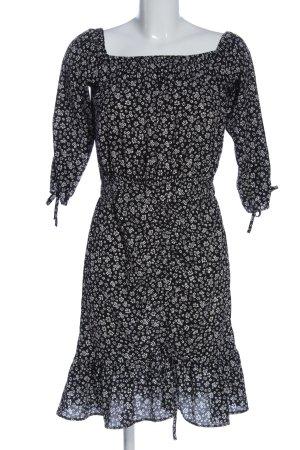 Zara Minikleid schwarz-weiß Allover-Druck Elegant